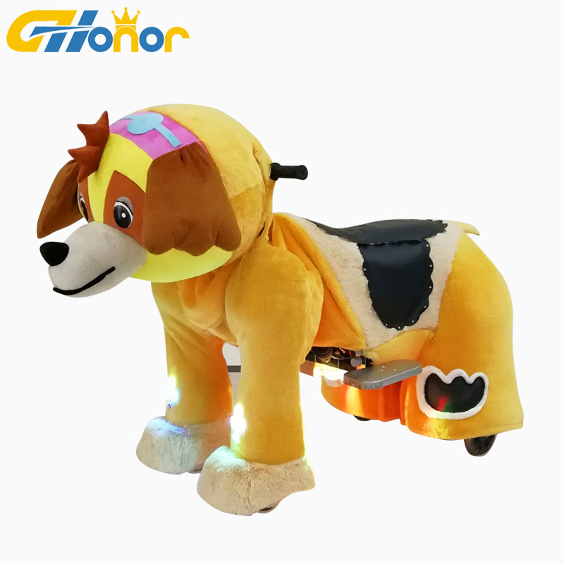 Attraction Battery operated ride on <strong>animal</strong> <strong>electrical</strong> toys rides for kids plush <strong>animal</strong> ride
