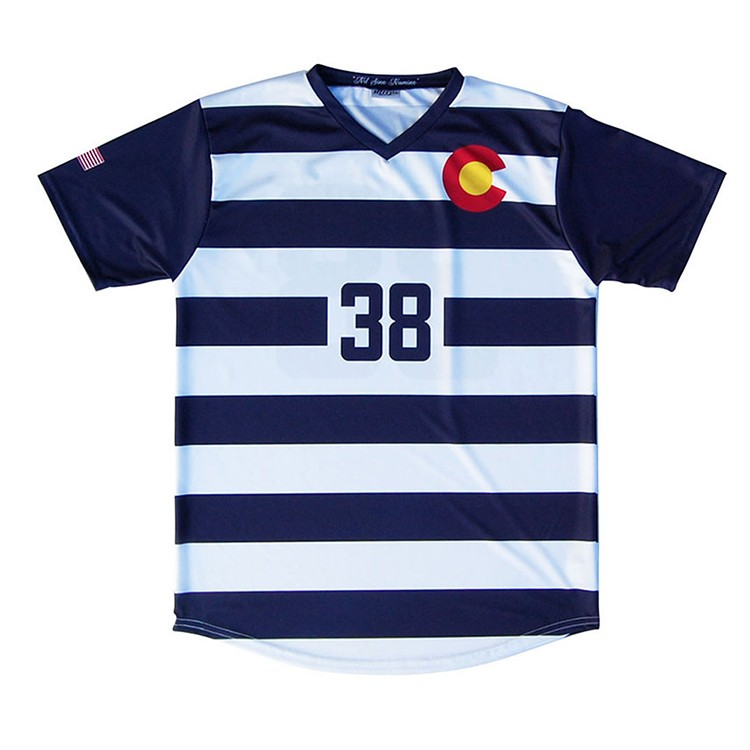 Factory direct supplier stripe football jersey design images