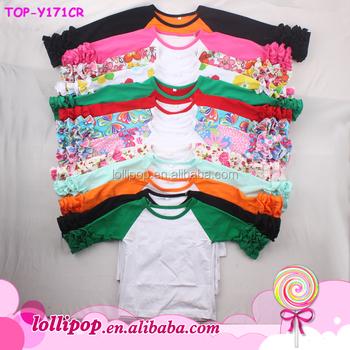 73f2aa53ed3 Hot sale icing raglan shirts holiday design raglan 3 4 sleeves shirts floral  printed girls
