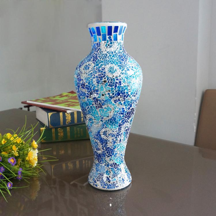 Broken Glass Vase: Broken-glass-antique-chinese-markings-interior-decoration