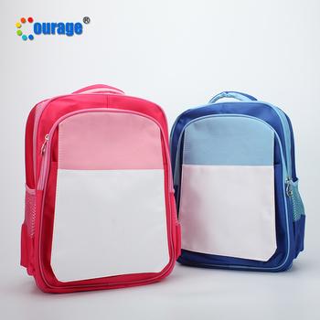 ee48837d70c6 Kids blank free print sublimation school backpack bag as custom gift