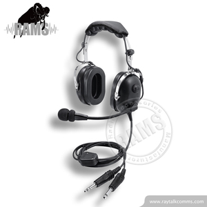 Passive Noise Cancelling Shenzhen Factory Pilot Aviation Headphone with Mic