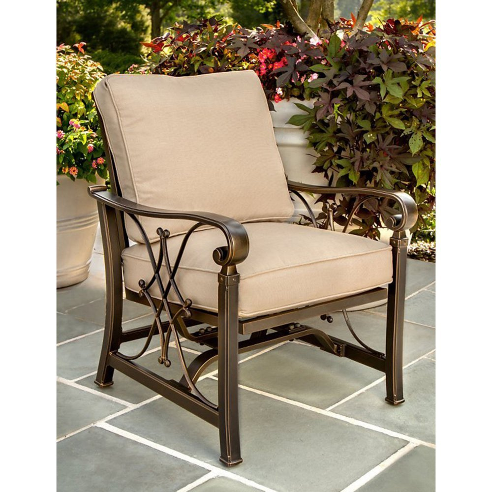 Get Quotations · Oakland Living Goldie Deep Seating Cushioned Spring  Rocking Chairs   Set Of 4