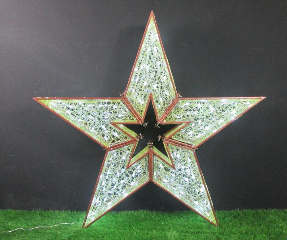Custom Commercial Hanging 1m 2m 3m 4m Large Outdoor Led Christmas Star Lights Decoration