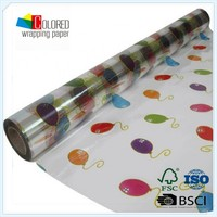 Waterproof Transparent Gift Wrapping Paper Floral Wrapping Paper