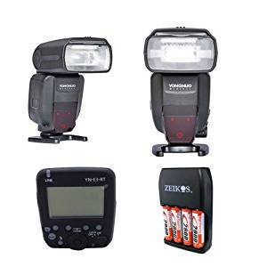 TWO Yongnuo YN600EX-RT II Flash TTL HSS Optical Master For Canon + Wireless Transmitter YN-E3-RT + diffuder & A&R Cleaning cloth