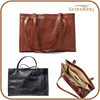 full grain genuine leather fashion shopping tote bag business travelling handbag women's hand bag shoulder bag