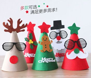 creative christmas hat felt cloth son bonnet christmas hat christmas decorations