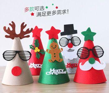 creative christmas hat felt cloth son bonnet christmas hat christmas decorations