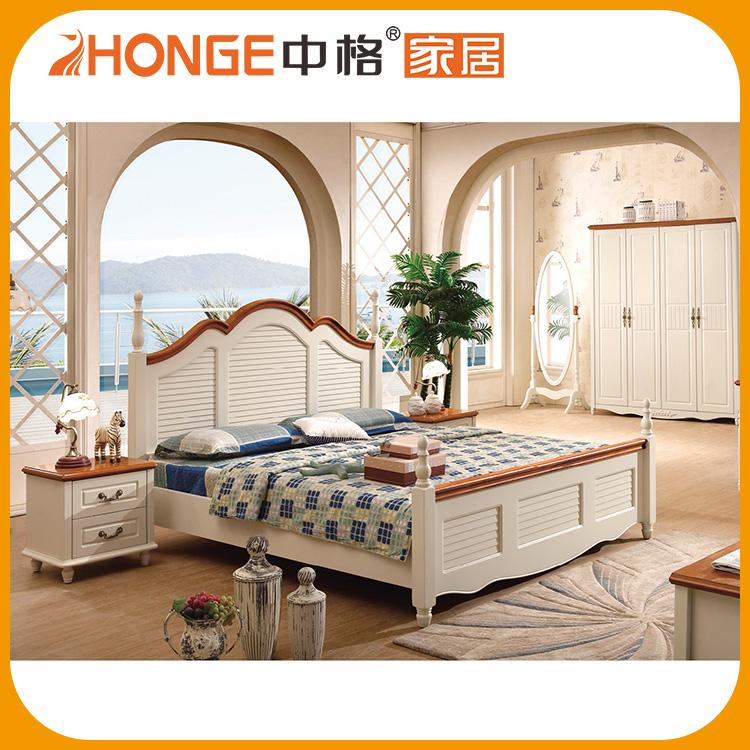 Schlafzimmer set bild vorgesehen neue mediterranen stil holzbett modelle schlafzimmer set for Mediterranean style bedroom set