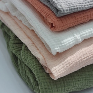 Factory Hot Sell High Quality Double Layers Organic Cotton Gauze Fabric in India