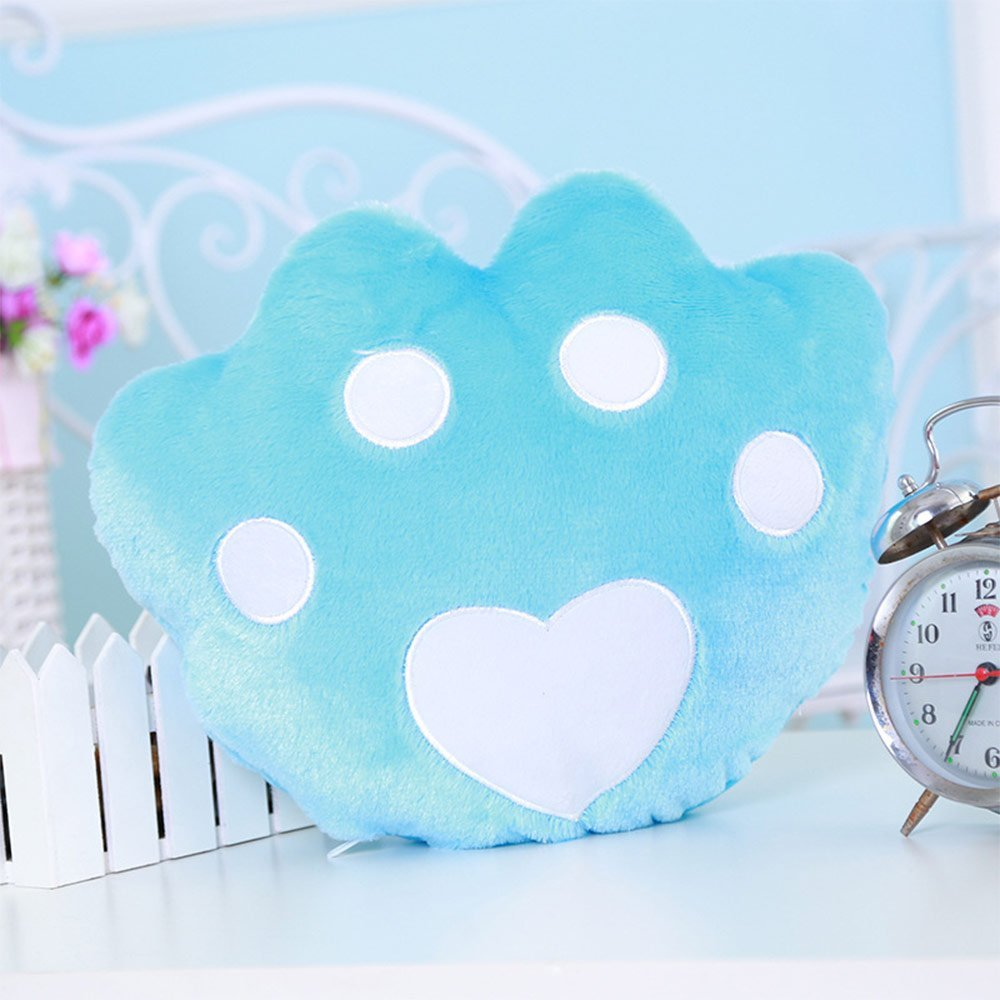 Creative Glowing LED 7 Colour Night Light Plush Pillow Stuffed Baby Toys(Blue)