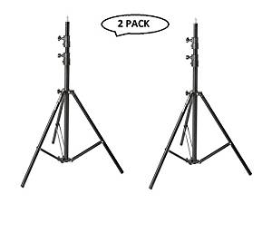 Impact Air-Cushioned Heavy Duty Light Stand - Black, 9.5' (2.9m) (2 Pack)