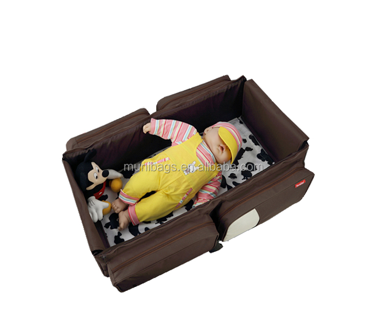 Travel Portable Cribs & Changing Bed Bag Foldable Mommy Baby Diaper Bed In Bag