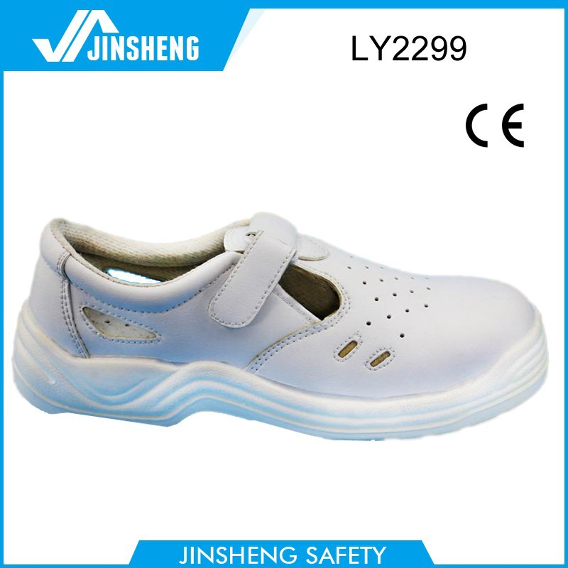 2015 low price comfort PU sole hospital anti-static lab hotel used white safety shoes