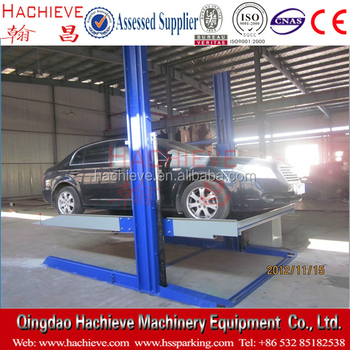 2 Post 2 Cars Parking Lift System Cheap 2 Post Car Parking Garage