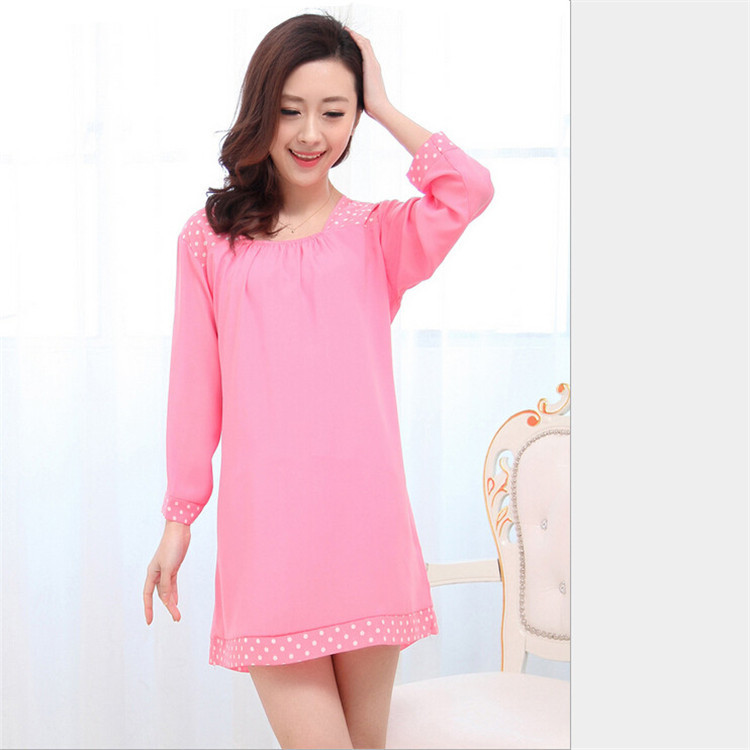 73f029f55f Get Quotations · Women s Dresses Chemise Lingerie Women Strap Sleepshirts  Cotton Nightgown Embellished Original Authentic Sleepwear Dress Nightie