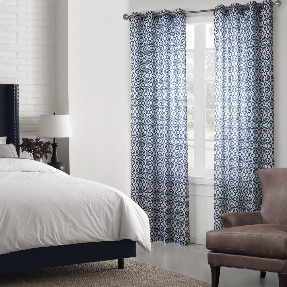 imprim ray rideaux pour salon cuisine rideau plat fen tre style moderne rideaux de lin linge. Black Bedroom Furniture Sets. Home Design Ideas