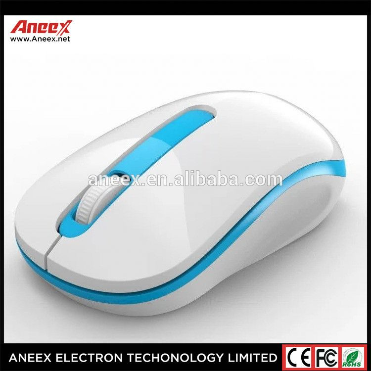 elegant USB Optical Wireless Mouse 2.4G Receiver blue Mouse for Computer