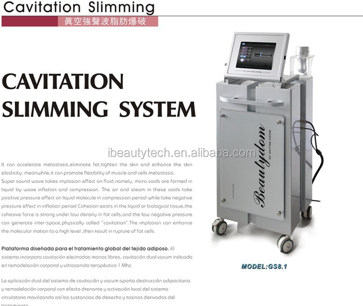 2016 Hot Sale Product Gs8 1 Laser Cavitation Cavitation