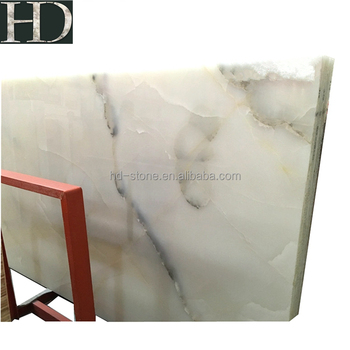 Polished Beautiful Elegant Chinese Snow White Onyx Stone Marble Slab Price with Good Quality