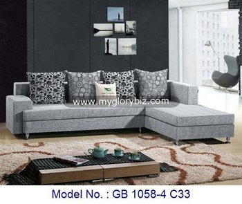 Modern Elegant Corner L Shape Sofa Set Furniture,Modern Design Living Room  Grey Sofa,Contemporary Corner Living Room Furniture - Buy Latest Living ...