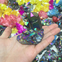 Wholesale Rough Colorful Aura Quartz Crystal Cluster Raw Mineral Crystal