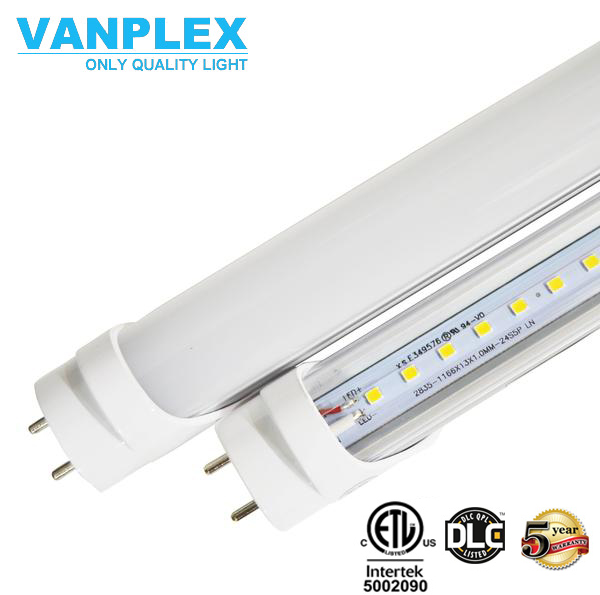 110V 277V 347v t8 light fixtures 8 feet led tube light fixture, 4 feet shop light DLC ETL