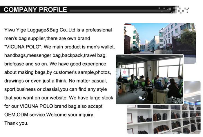 VICUNA POLO 2020 New Arrival Fashion Business Man PU Leather Messenger Bags Crossbody Bag Casual Black Man Sling Shoulder Bag