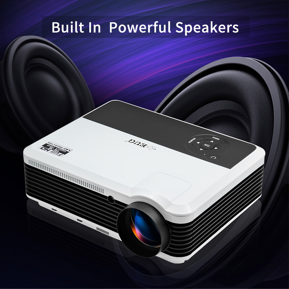 3600 Lumens home theater projector 1280*800 support 1080P LED LCD projector connect with iphone ipad laptop tablet