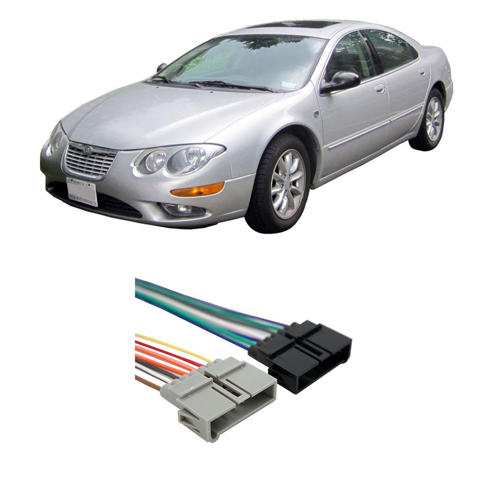 Get Quotations · Chrysler 300M 1999-2001 Factory Stereo to Aftermarket  Radio Harness Adapter