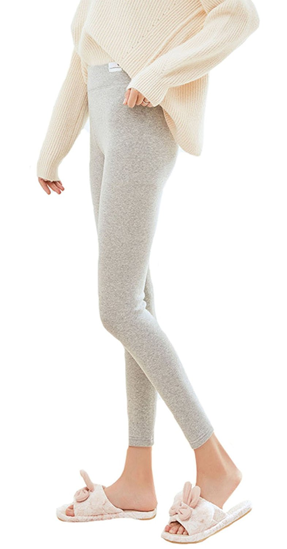 517ba9e18fb Pure Cotton Thicken Plush Winter Warm Leggings Stretchy Leggings Women  Pants Footless Tights( Light Grey