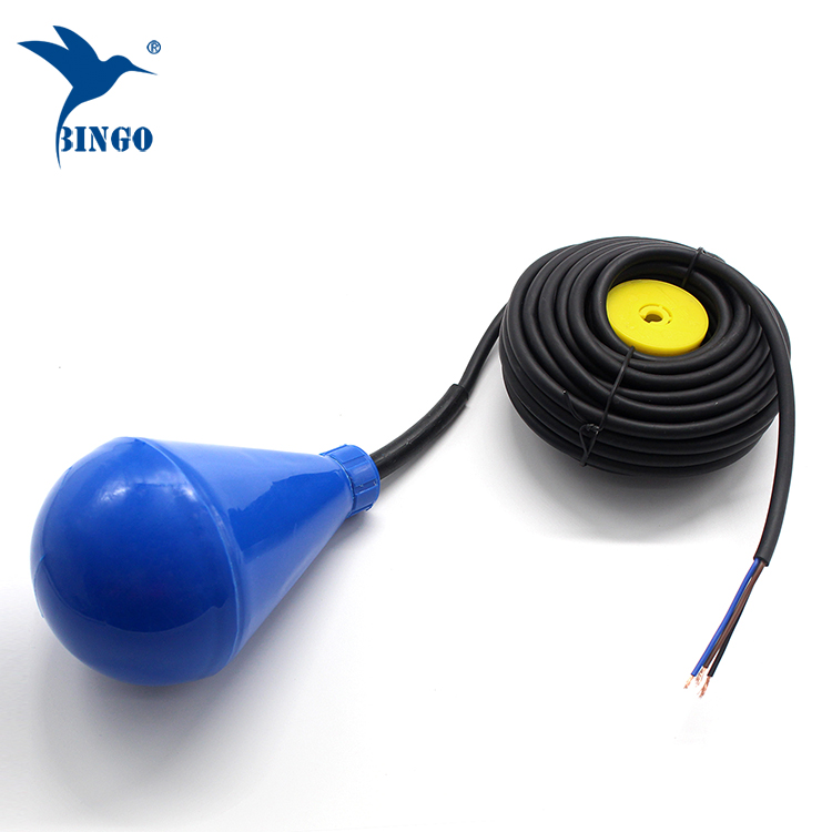 Subuliform shaped water tank level float switch with PVC cable