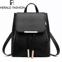 font b Women b font Backpack High Quality PU Leather Mochila Escolar School font b