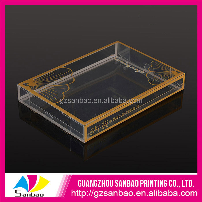 high quality custom a4 plastic packaging box, clear pvc packaging boxes