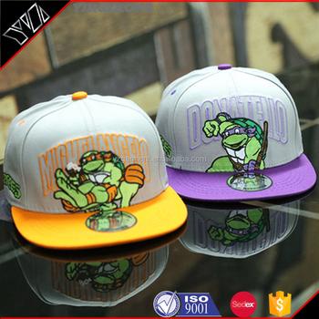 c8d2c8684e9 Custom sports caps ninja turtles wholesale snapback hat teenage mutant ninja  turtles sunhat