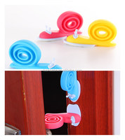 2016 new style fancy snail shape baby safety silicone door stopper/eco-friendly silicone Baby/kid security door bumper anti-p