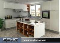 White Lacquer Flat Pack Kitchen Cabinet Furniture for Australia Project