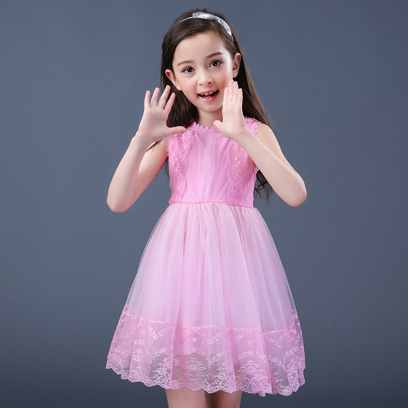 7268566d05f5 Children Dresses New Model Cute Cheap Girls Dresses Korean Style Fashion  Child Girls Bulk Kid Clothes