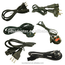 hot new products Australian standard power cord U Plug 2 pin european standard ac power cord,3 pin American AU standard
