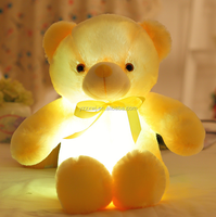 free sample Soft Teddy Bear Shape Coloful Led Light Doll Toy colour changing led light toys Light Up Teddy Bear