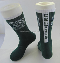 knitted bulk terry socks oem custom made logo