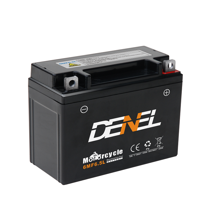 Long Life China Battery Manufacturer 6MF6.5L Motorcycle Battery 12N6.5