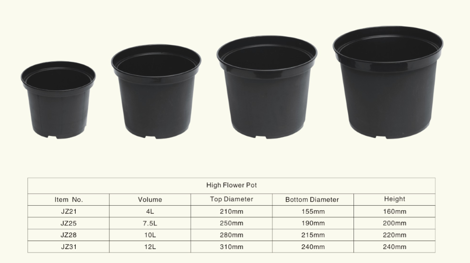 Black 2 5 Gallon Nursery Plastic Flower Pot