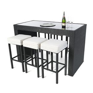 Garden And Chairs Table Furniture Rattan Balcony Bar Set