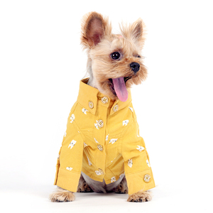 Pet Summer Cotton Apparel dog t-shirt, Linen Fabrics Dog Shirt