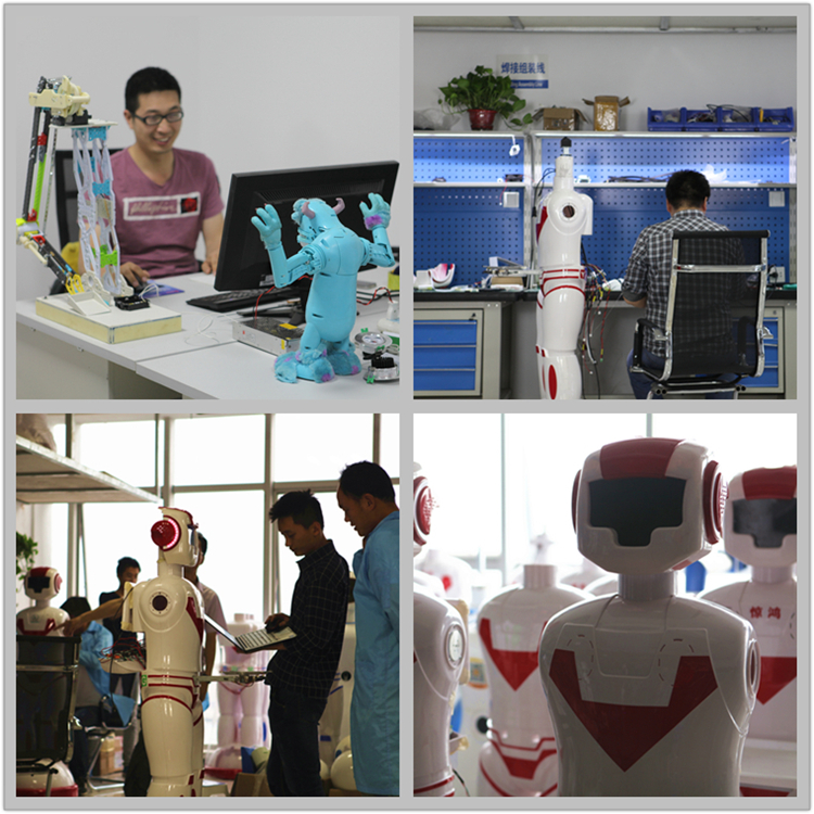 Customized intelligent receptionist robot for bank, restaurant