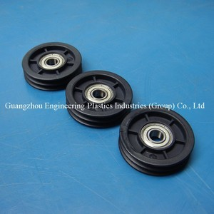 Factory wholesale impact resistance abs black plastic pulley small wheel pulley