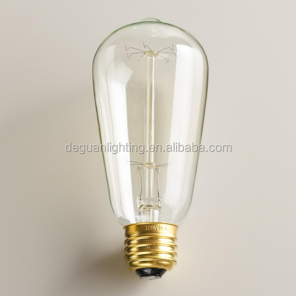 Vintage Antique Edison Bulbs St64 E26/e27 Filament Long Life ...