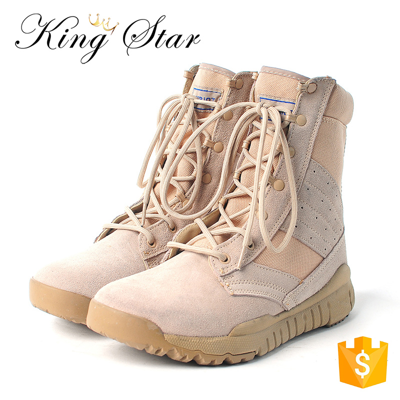 Tactical Shoes High Ankle Mens Combat Beige Military Desert Boots
